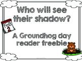 Groundhog Day Reader Freebie