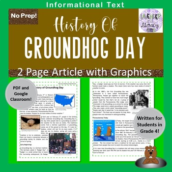 Groundhog Day Reading Comprehension