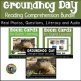 Groundhog Day Reading Comprehension Bundle   Boom Cards an