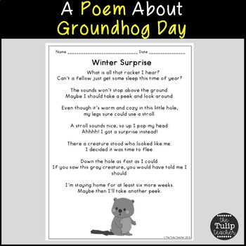Groundhog day reading comprehension paired passages by the tulip teacher groundhog day reading comprehension paired passages ibookread Download