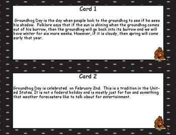 Groundhog Day -Reading Comprehension- Read The Room- Grades 4-7