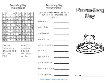 Groundhog Day Reading Comprehension Trifold