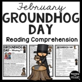 Groundhog Day Reading Comprehension Worksheet, February, Holiday