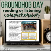 Groundhog Day Reading or Listening Comprehension |  Boom Cards™