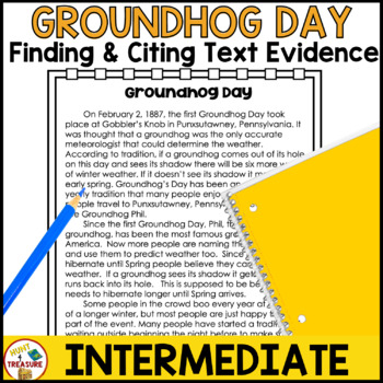 Groundhog Day Reading Passage- Finding and Citing Text Evidence
