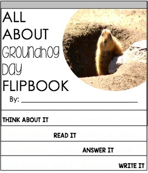Groundhog Day Reading Passage and Flipbook