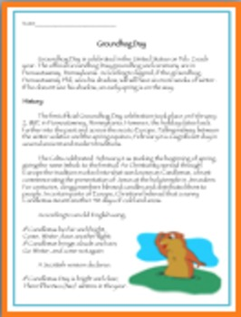 Groundhog Day Informational Text