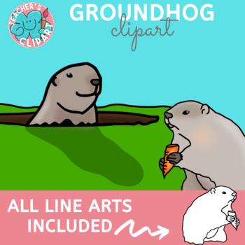 Groundhog Day Realistic Clip art