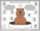 Groundhog Day Roll And Cover Addition and Subtraction Game