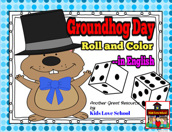 Groundhog Day...Roll a Groundhog-Dice game to colour/color-English version