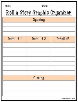 Groundhog Day Roll a Story - Story Prompts, Graphic Organizers, Lists and Rubric