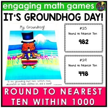 Groundhog Day Round to Nearest Ten Within 1000 Game