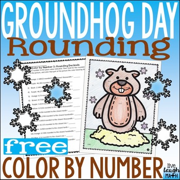 Winter Color by Number FREE: Groundhog Day Rounding