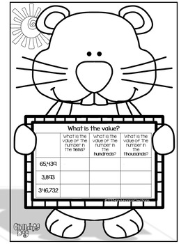 Groundhog Day Rounding Numbers Math Activity