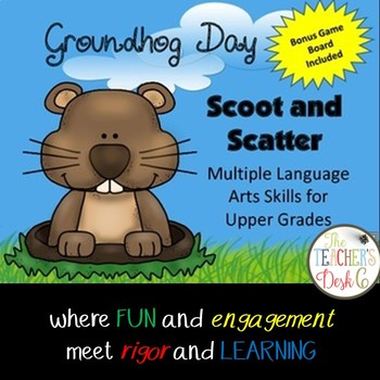 Groundhog Day SCOOT, SCATTER ELA plus Bonus Game Board