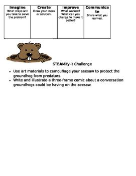 Groundhog Day STEM Activities Simple Machines Grades 2-5 Differentiation