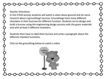 Groundhog Day STEM challenge