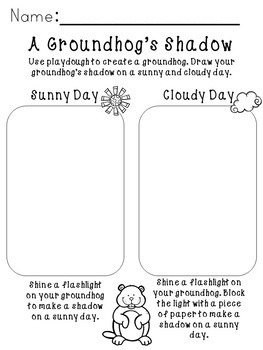 Groundhog Day Science and Math - Shadow Science