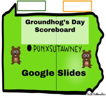 Groundhog Day Scoreboard in Google Slides™