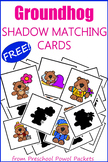 Groundhog Day Shadow Matching Cards