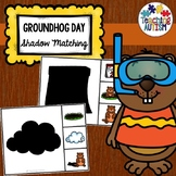 Groundhog Day Shadow Matching Task Cards
