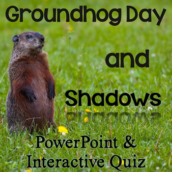 photo regarding Ground Hog Printable identify Groundhog Working day Shadows PowerPoint with Interactive Quiz Printable Web pages