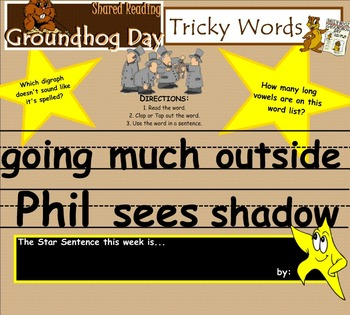 Shared Reading Poetry: Groundhog Day (SMARTboard, Gr 1-2)