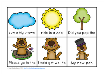 Groundhog Day Sight Word Fluency Phrases Race