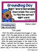 Groundhog Day Sight Word Scramble Envelope Center