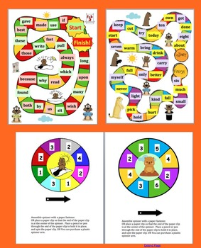 Groundhog Day Activities:  Sight Word Games - Last 114 Dolch