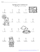 Groundhog Day Single-Digit Addition and Subtraction Worksheets