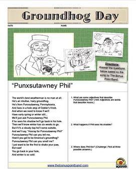 Groundhog Day Song and Printables