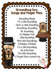 Groundhog Day Songs, Poems and Fingerplay