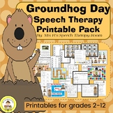 Groundhog Day  Speech Therapy Printable Pack