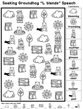 Groundhog Day Speech Therapy Seeking Activity {articulation}
