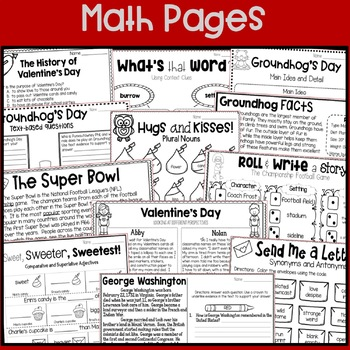 Groundhog Day, Super Bowl, Valentine's Day, Presidents Day: No Prep February