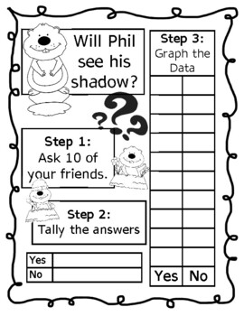 Groundhog Day Survey Tally & Graphing Activity