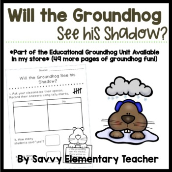 Groundhog Day Tallying Activity *Preview*