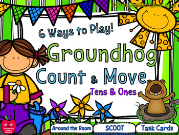 Groundhog Day Tens & Ones Place Value Count & Move Activity Pack