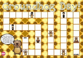Groundhog Day Themed Game Board