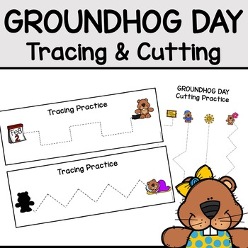 Groundhog Day Tracing and Cutting Practice