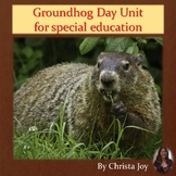 Groundhog Day Unit for Special Education PRINT AND DIGITAL
