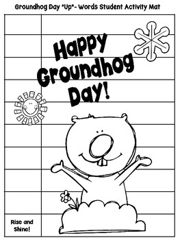 Groundhog Day Up-Words Activity