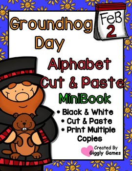 Groundhog Day Uppercase Lowercase Alphabet Mini Book