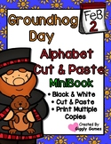 Groundhog Day Uppercase Lowercase Alphabet Mini Book