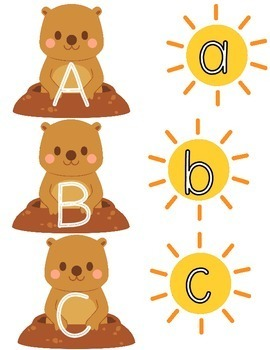 Groundhog Day Uppercase-Lowercase Letter Matching