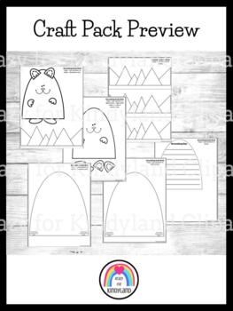 Groundhog Day Craft Value Pack: Paper Bag, Craft Stick and Writing, Hat
