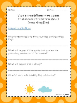 Groundhog Day WebQuest - Engaging Internet Activity