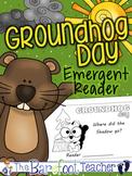 Groundhog Day - Positional Words Emergent Reader