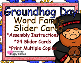 Groundhog Day Word Family Slider Cards